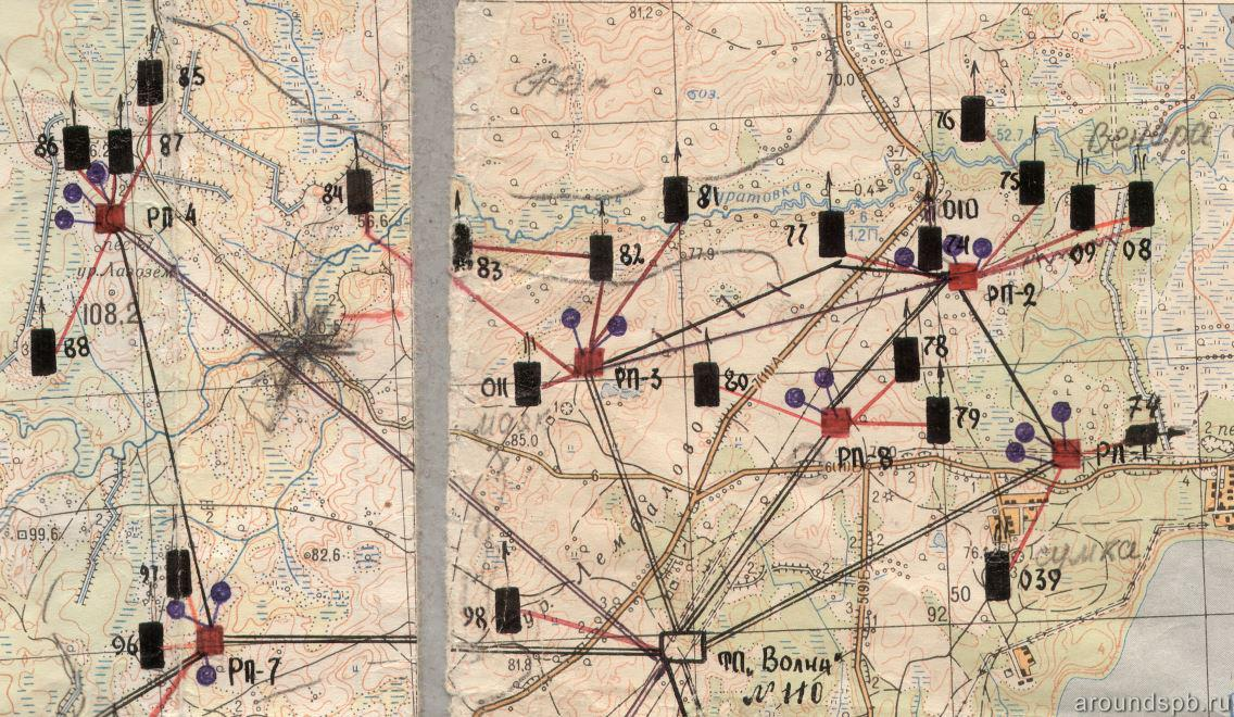 Фрагмент электрификации северной части Лемболовского батрайона