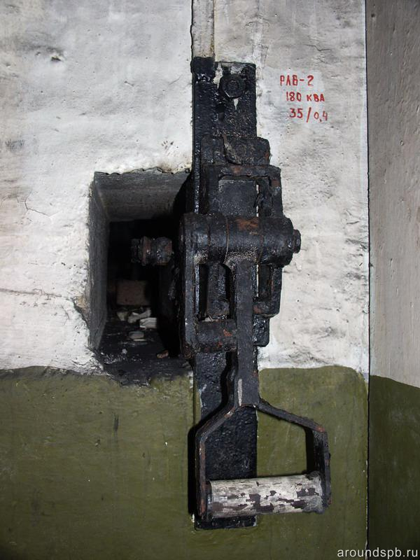 Ручной привод вводного разъединителя 35 кВ Мертутской подстанции