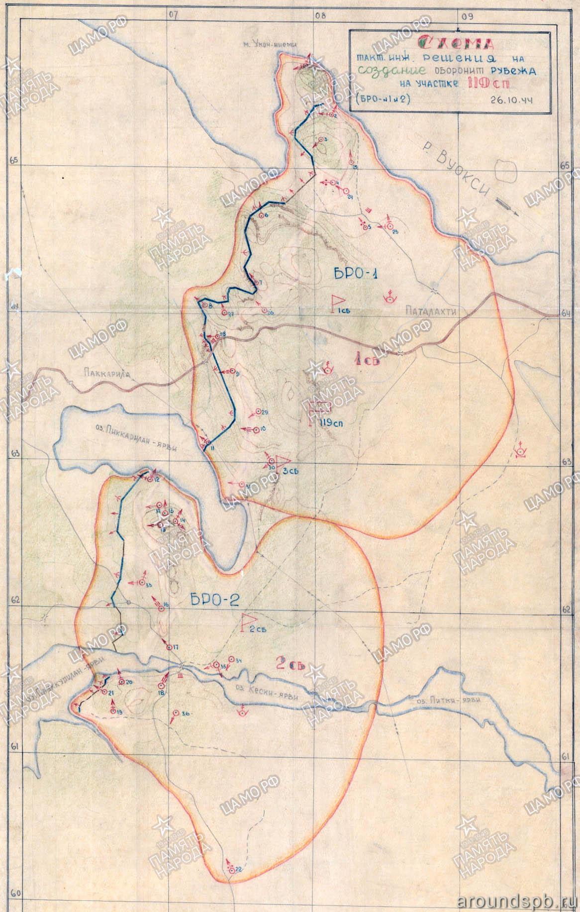 Выборгский укрепрайон. Фрагмент 2-й оборонительной полосы