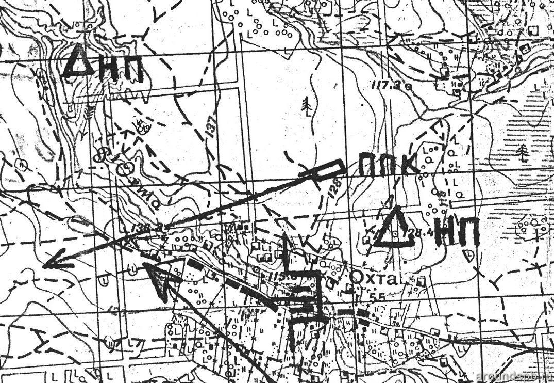 Схема опытного строительства 1938 года