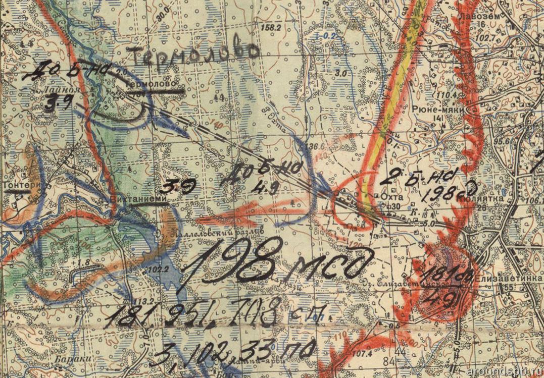 Карта боевых действий в 1941 году