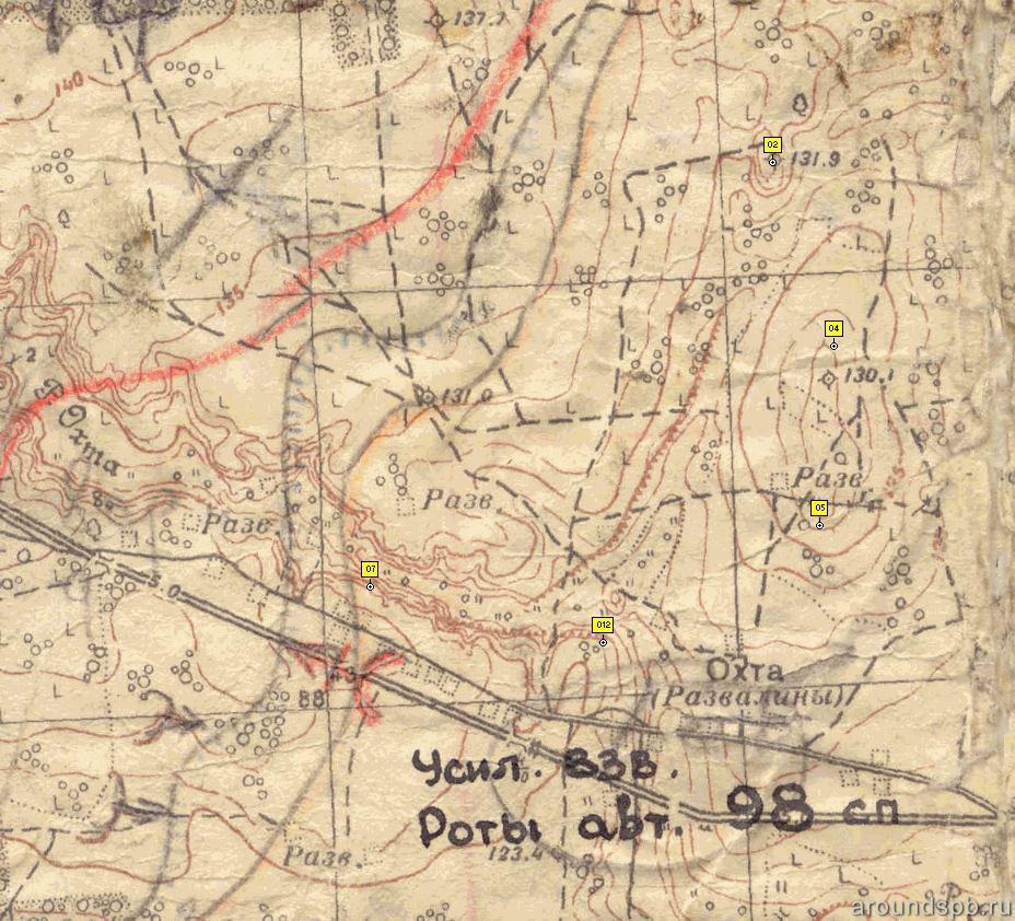 Схема наступления в 1944 году